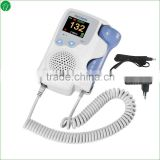 2015 popular pocket Fetal doppler LCD fetal heart monitor for pregnant