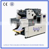 L470-2C offset machine two color continuous stationery press