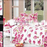 70gsm bedding set/100%polyester dispersed velour /pigment print/many designs/nantong factory