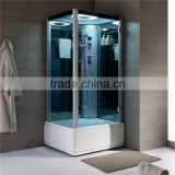 New design indoor bathroom corner glass door portable steam shower room