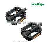 Taiwan made Wellgo reinforced plastic/black pedals for mini velo fixed gear city bicycles