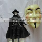 Wholesale PVC Guy Fawkes Mask V for Vendetta Mask /Halloween Masquerade mask