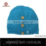 wholesale Colorful High Quality Custom Knitted Cashmere Beanie Hat