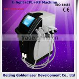 2013 Exporter E-light+IPL+RF machine elite epilation machine weight loss belt massager slim machine