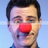 Cheap Red Nose Sponge Circus Clown Nose Comic Party Supplies Halloween Accessories Costume Magic Trick Dress