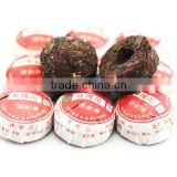 in bulk yunnan puer shu tuocha tea blended with rose flower