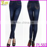 Blue Fashion Sexy Women Jeans Skinny Leggings Jeggings Tight Stretch Pants Wholesale