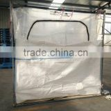 Sea dry bulk container liner with zipper for cocoa powder