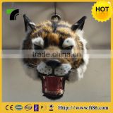 unstuffed pluah tiger polyresin animal head wall decor, animal home decoration, decorative animal figurines