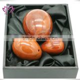 only polished red jasper jade yoni eggs kegel exercise for woman kegel egg weights sex toy