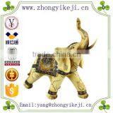 2015 chinese factory custom made handmade carved hot new products resin indian elephant statues