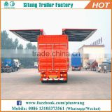 Hot selling top quality wing van trailer / wing body truck trailer / wing opening van trailer for sale