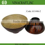 High quality Vietnam bamboo lacquer bowl