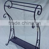 Metal floor standing towel racks