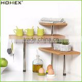 Kitchen Corner Storage Rack/Bamboo Corner Shelf/Homex_FSC/BSCI Factory