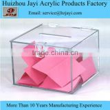 OEM clear hand made donation box,best design and large donation box