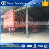 CLW company cheapest price 3 axle 50 ton 60 ton high fence cargo semi trailer for export