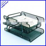 3 tier office metal mesh desk organizer document tray