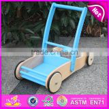 Unique baby walker wooden push toys for toddlers,Hot sell Wooden Baby Walker Trolley Toy W13C012