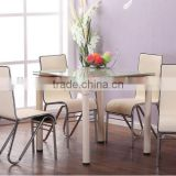 Good selling a variety of colors glass extendable dining table