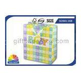 High Grade Paper Gift Wrapping Bags for Baby Showers Packaging with Ribbon Handle