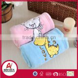 super soft crochet animal shape coral fleece baby blanket