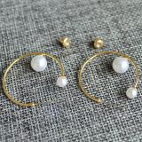 Fashion Jewelry Pearl circle earring