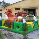 giant dinosaur inflatable obstacle course