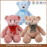 100% cotton wholesale colorful small pink and blue, light brown teddy bear plush soft toy