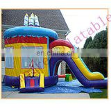 cartoon inflatable funny jumpers for kids with slide
