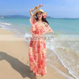 Long dress chiffon new style bohemian dresses african print fabric off shoulder maxi dress