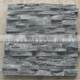 black thin stone veneer slate wall panel