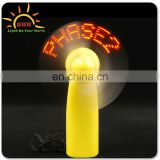 Good quality Mini portable usb led text message fan flash what you want for party/Christmas