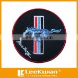"Eco-friendly feature,sew-on,merrow with laser-cut border Ford Mustang Car Logo Of 3""Diameter Embroidered Badge Patch"