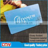 Good Quality Transparent Material Pvc Business Card