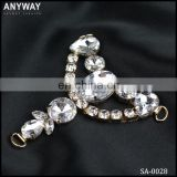 wholesale lady rhinestone buckle decorative shoe clip connector