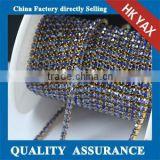 0516L 10 Yards one roll cheap rhinestone cup chain; rhinestone roll chain trimming; wholesale shop crystal rhinestone chain