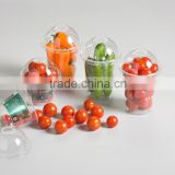 Dongyang factory made clear plastic food grade take away vegetable packaging box wholesale for picknic or party cups