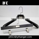 Top quality wooden suit hanger black wooden hanger with custom logo for clothes                                                                                                         Supplier's Choice