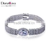 Best Selling Big Stone CZ Brand Luxury Love Wedding Gift Jewelry Cuff Bracelet