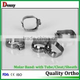 Dental sales orthodontic products /roth dental elastic bands / molar bands with FDA ,ISO & CE approved