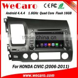 Wecaro android 4.4.4 car dvd Dashboard Placement for honda civic android BT gps 3g TV 2006 - 2011                                                                         Quality Choice