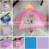 TF-Y02160703010 2016 Kids Boys Girls Frozen Fever Elsa Anna with Tiara Sofia Automatic Open Hook Rain Sun Umbrella Gift Brolly