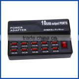 Multi 10 Port Fast USB Charging Station AC to DC Power Adapter With Power switch Controller