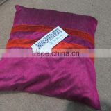 patch stripe cushion cover for multipurpose use
