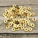 JS1236 Hot sale high quality 8mm gold plated disc spacer beads, Gold Rondelles Disks Donuts