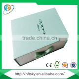 Luxury embossing gift packing boxes fashion box with pull-out drawer