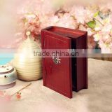 High Quality Lacquered Wooden Box for Jewelry Wholesales, Fake Book Shape of jewellery box, makeup box for home use