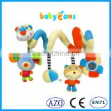 Babyfans baby toys china wholesale cute design baby plush toy stroller baby toys with bell