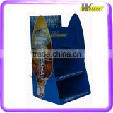 lighting store good quality shelf design cardboard display stand for electric bulb